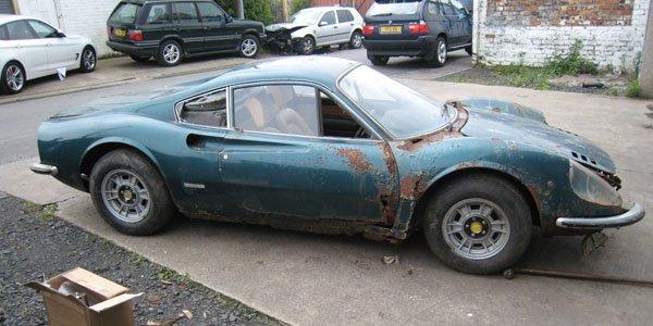 Une Dino 246 GT rouillée aux enchères