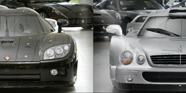 Une collection de supercars en vente