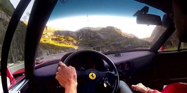 Vidéo : une promenade en Ferrari F40 dans les Alpes