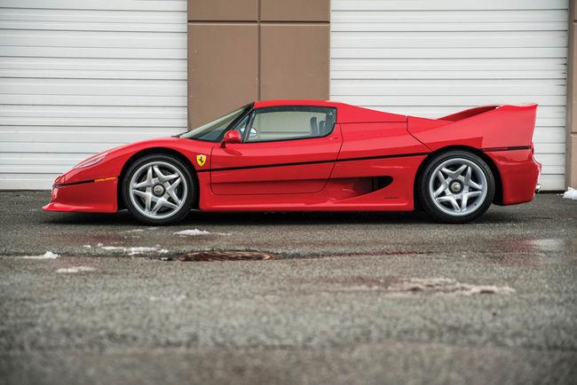 Une Ferrari F50 ex-Mike Tyson aux enchères