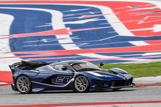 La Ferrari FXX K Evo en piste à Austin