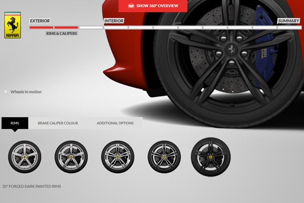 La Ferrari GTC4Lusso a son configurateur