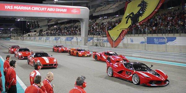 La Ferrari FXX K en piste à Abu Dahbi