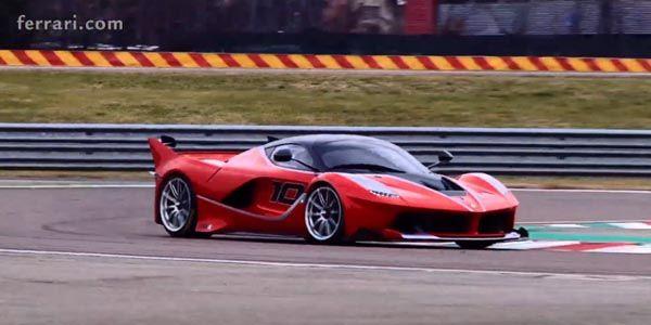 Sebastian Vettel s'éclate en Ferrari FXX K