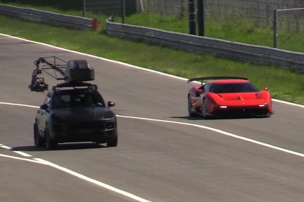 La Ferrari P80/C en action à Monza