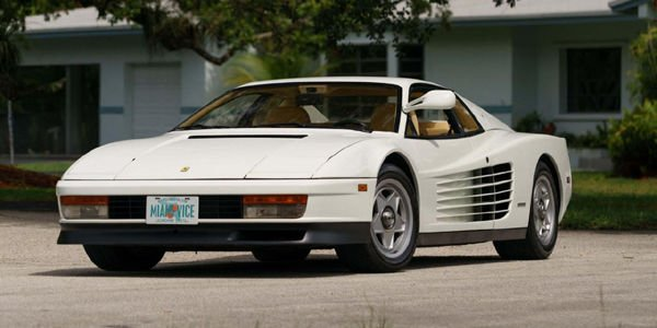 La Ferrari Testarossa de Miami Vice aux enchères