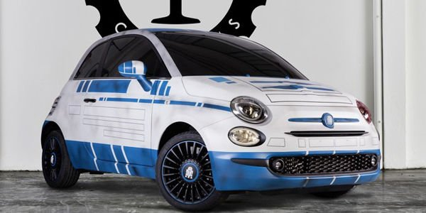 Star wars des fiat 500 r2 d2 et bb 8 sign es garage for Garage fiat 500