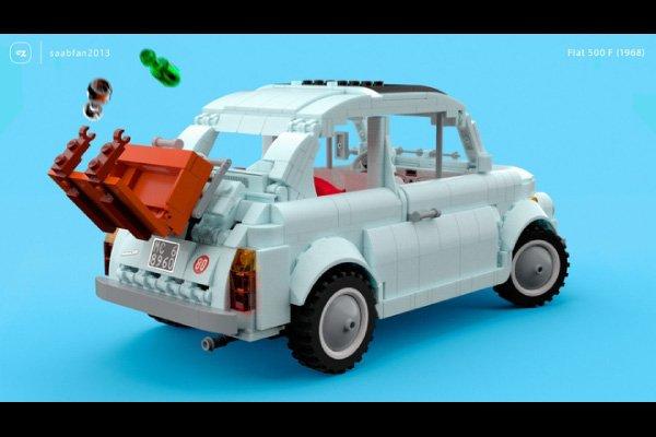 Vous allez craquer pour cette Fiat 500 F en LEGO