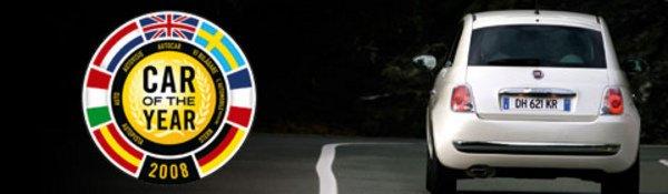 La Fiat 500, voiture de l'année 2008