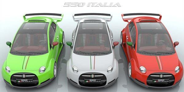 La Fiat 550 Italia par Lazzarini Design