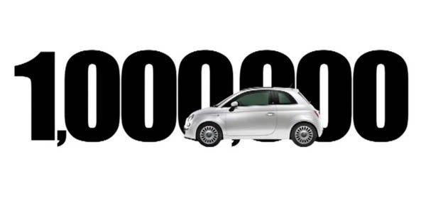 Un million de Fiat 500 vendues