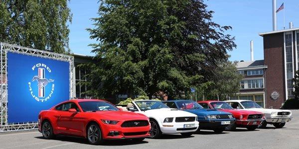Ford fête les 50 ans de la Mustang à Cologne
