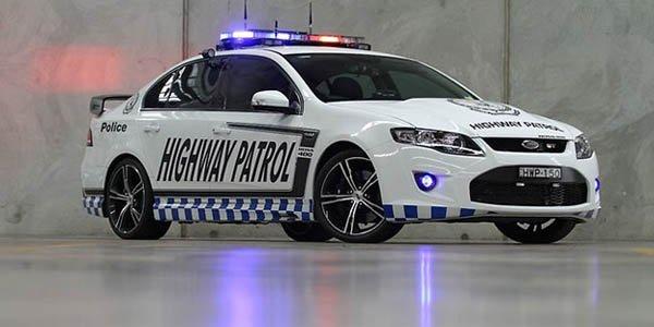La police australienne en Ford Falcon GT