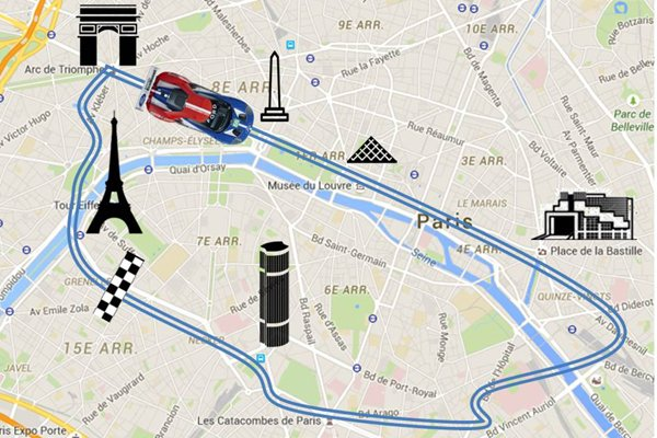 Le Mans : la Ford GT en virée à Paris