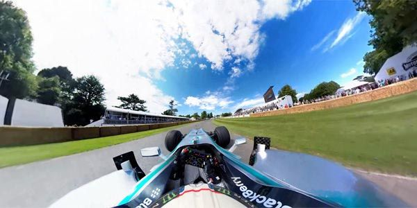 Goodwood en version 360° avec Mercedes