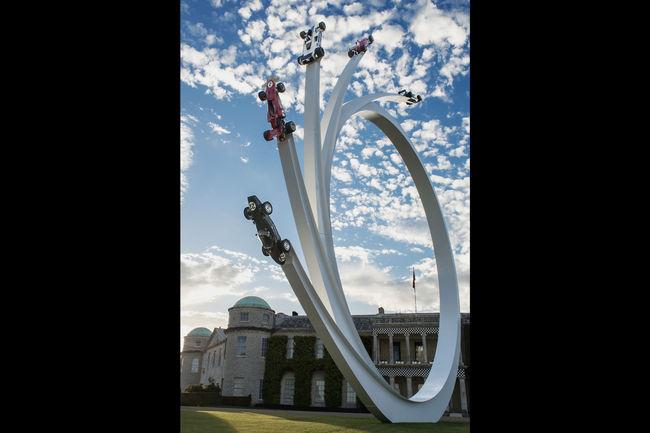 Goodwood : la sculpture hommage à Bernie Ecclestone