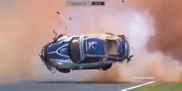 Grosse frayeur pour Pedro Piquet en Porsche GT3 Cup
