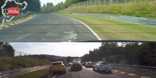 Un crash massif évité de justesse sur le Nürburgring