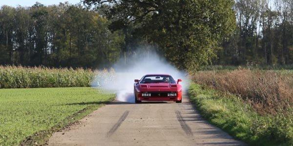 Vidéo : Gymkhana en Ferrari 288 GTO