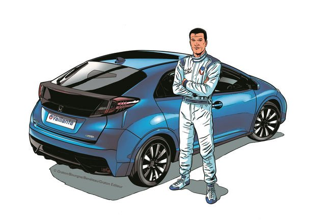 Michel Vaillant roule pour Honda