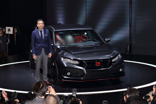 Le prototype de la Honda Civic Type R 2017 présenté au Japon