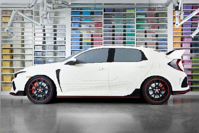 Insolite : Honda Civic Type R en LEGO à l'échelle 1