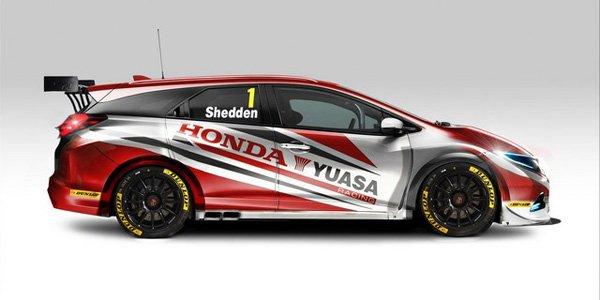 Une Honda Civic Tourer engagée en BTCC