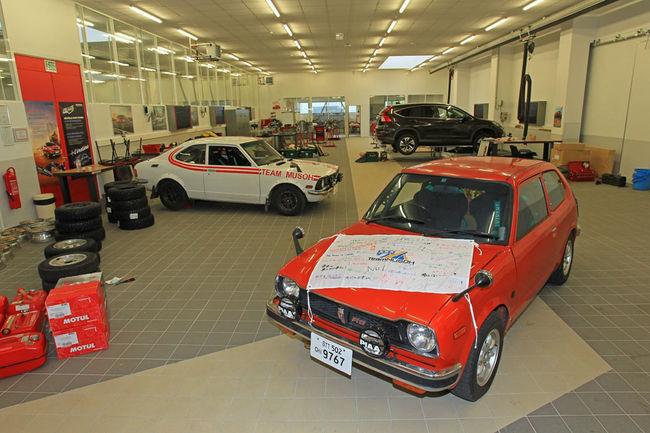 Honda au départ du Rallye Monte Carlo Historique