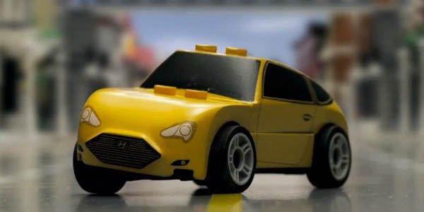 Hyundai Veloster : la course en Lego