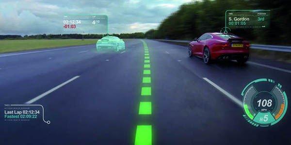 Jaguar développe un écran virtuel