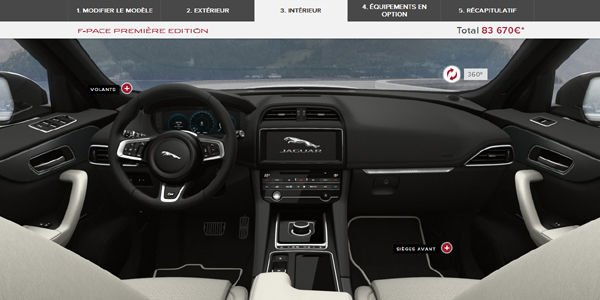 le nouveau suv jaguar f pace a son configurateur actualit automobile motorlegend. Black Bedroom Furniture Sets. Home Design Ideas