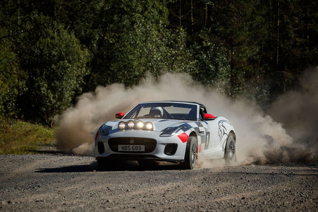 One-off Jaguar F-Type Cabriolet Rally Car