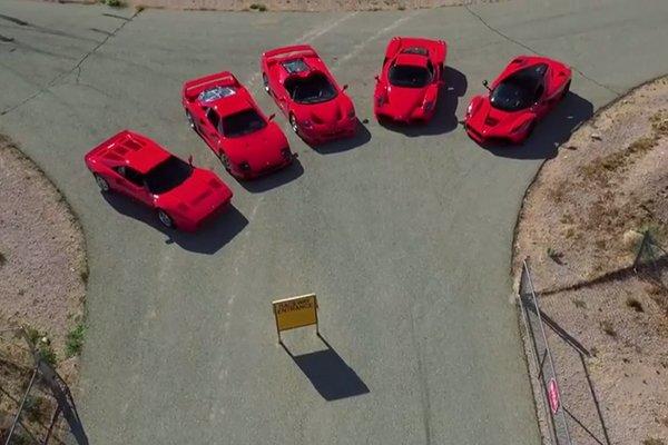 Cinq Ferrari réunies autour de Jay Leno
