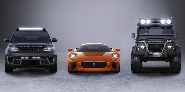 Trois modèles Jaguar Land Rover dans Spectre