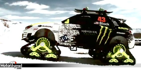 ken block sur 4 chenilles actualit automobile motorlegend. Black Bedroom Furniture Sets. Home Design Ideas