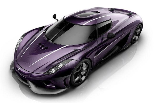 Une Koenigsegg Regera en mode Purple Rain