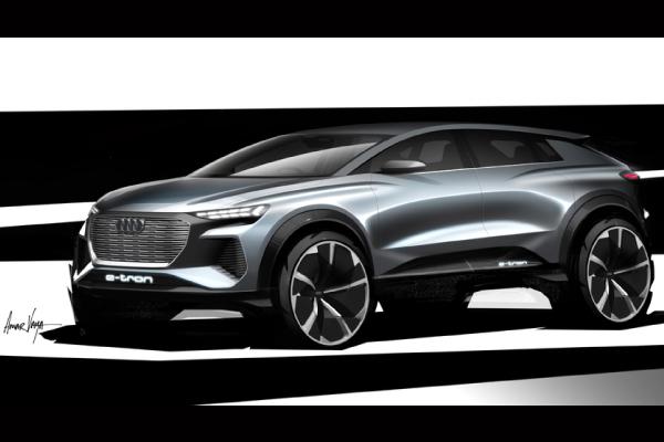 L'Audi Q4 e-tron concept attendu à Genève