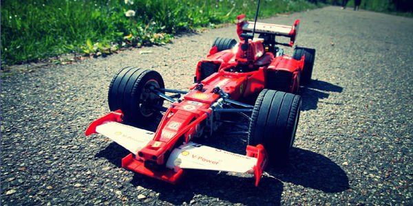 La Ferrari F1 de Schumacher en Lego