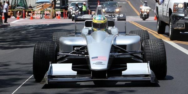La Formula E en démonstration à L.A