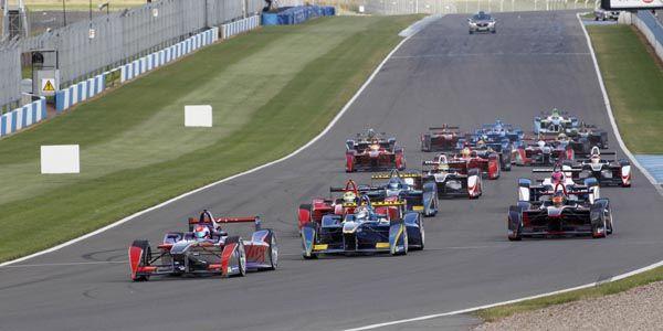 La Formula E en simulation à Donington