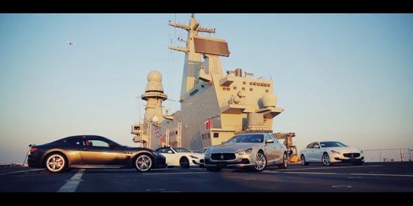 La gamme Maserati prend la pose