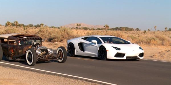 La Lamborghini Aventador en duel