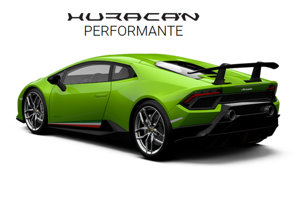 Configurez votre Lamborghini Huracan Performante