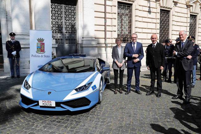 Une Lamborghini Huracan pour la Police italienne