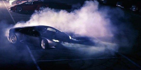 La Lamborghini Huracan LP610-4 en action