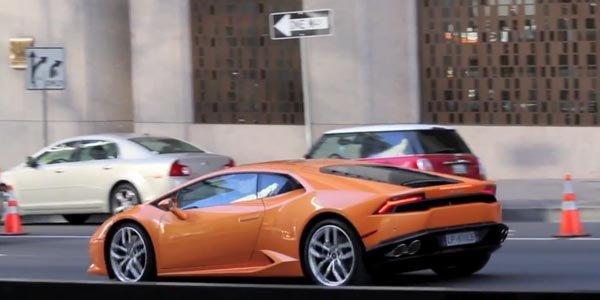 La Lamborghini Huracan en tournage
