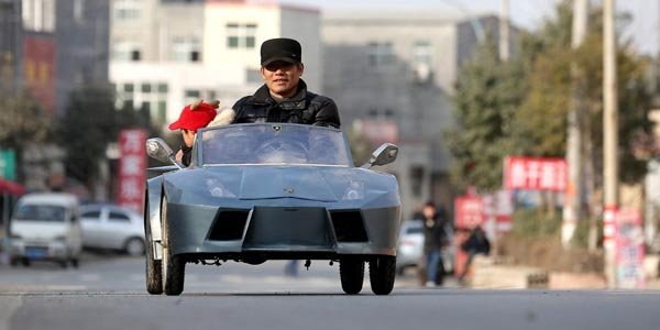 Chine : une Lamborghini miniature maison