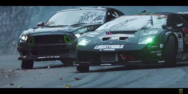 Drift : Lamborghini Murcielago vs Ford Mustang