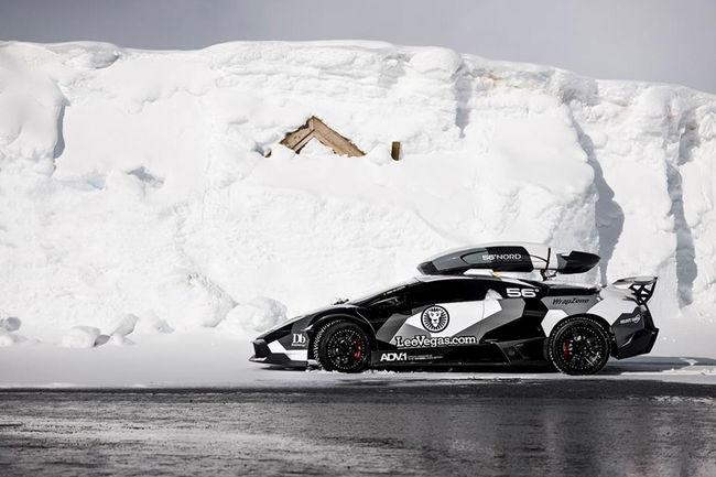 Jon Olsson sur les cimes en Lamborghini Murcielago