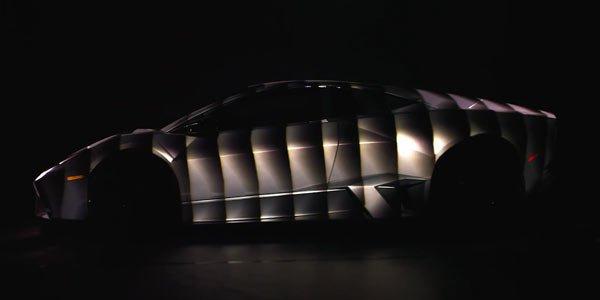 Une Lamborghini Reventon illuminée